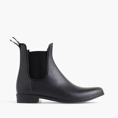 J. Crew Matte Chelsea Rain Boots - booties are so in this fall and winter, and these rain boots incorporate that trend while also having the durability to withstand a downpour!