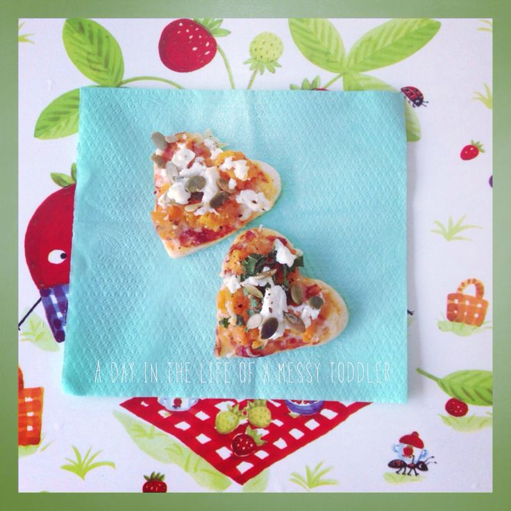 Mini sweet potato and goats cheese pizza with Kale and pepitas follow my instagram page foodiemum_for more ideas.