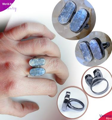 Vanyssa Bijuu - Bijuterii: Kyanite, High Vibration Crystals - Inel Modernist ...