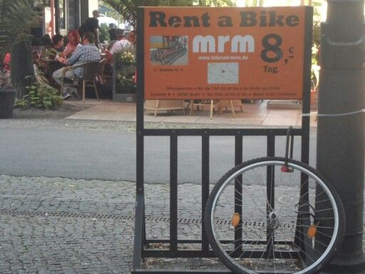 MrM rent-a-bike, Berlin. How much to rent just the tyre?