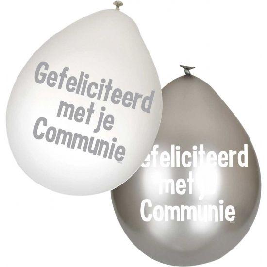 Communie ballonnen 6 stuks. Deze latex Communie ballonnen zijn verpakt per 6 stuks.