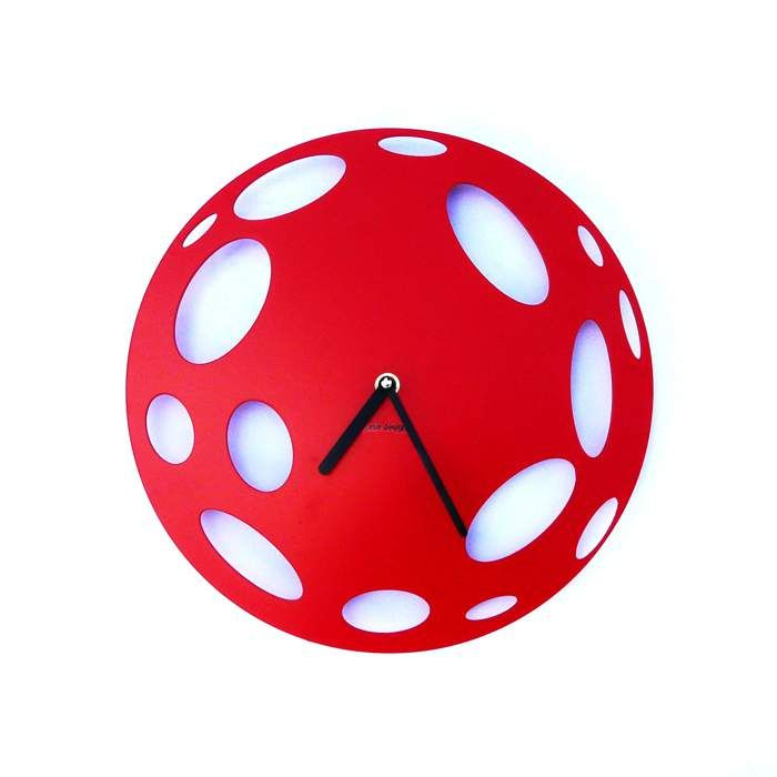 Zegar ścienny Urlik Design Księżyc, czerwony ◾ ◾ PrezentBox