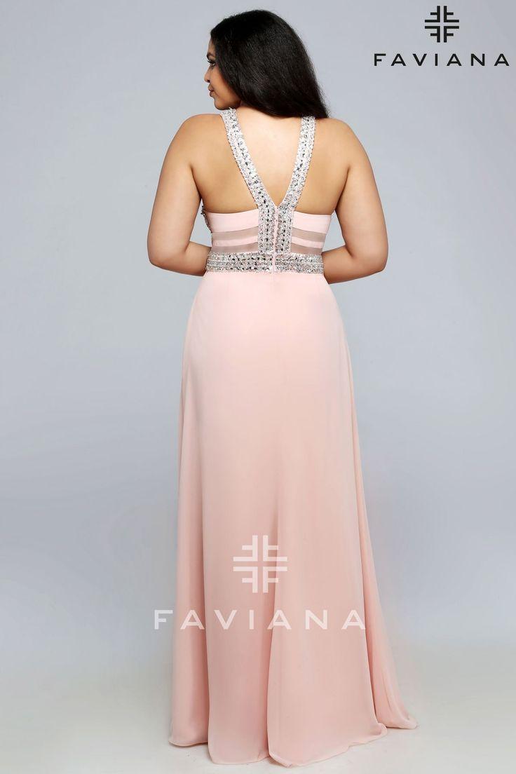 Mejores 85 imágenes de Faviana Plus en Pinterest | Vestidos de noche ...