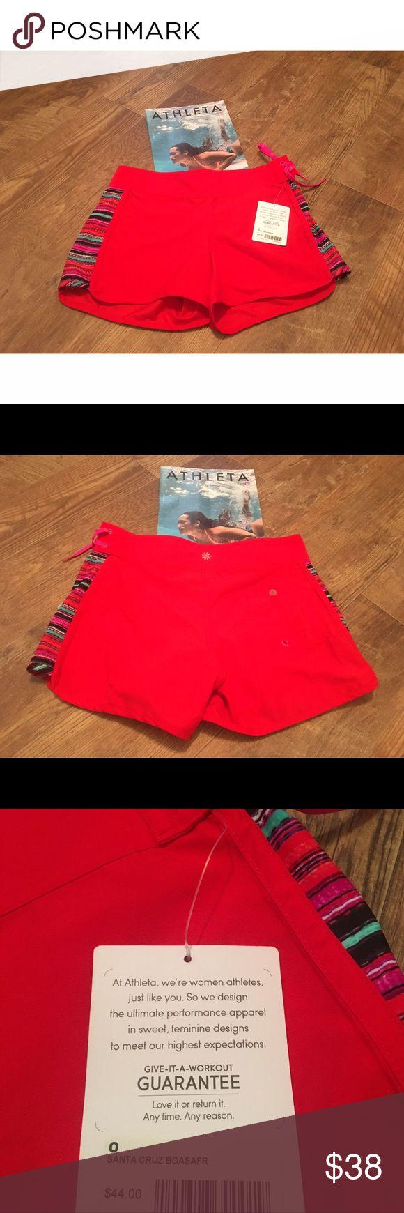 NWT ✨ Red Athleta Shorts Women's Red Athleta Shorts - Size 0 Athleta Shorts
