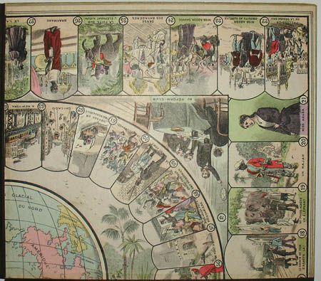 Around the World in 80 Days game board detail