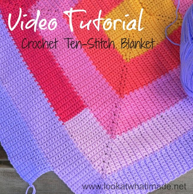 Crochet 10 Stitch Blanket - Video Tutorial I love this blanket and the video is very well done!   http://sussle.org/t/Crochet