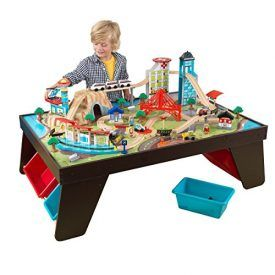 Let's play pretend! The Aero City Train Set & Table puts a busy city at your child's fingertips. It's so much fun to push vehicles up and down the track, fly the airplane over the city and help the fire department put out dangerous fires. Product Features MDF, Solid Wood, Plastic Combines a train table […]