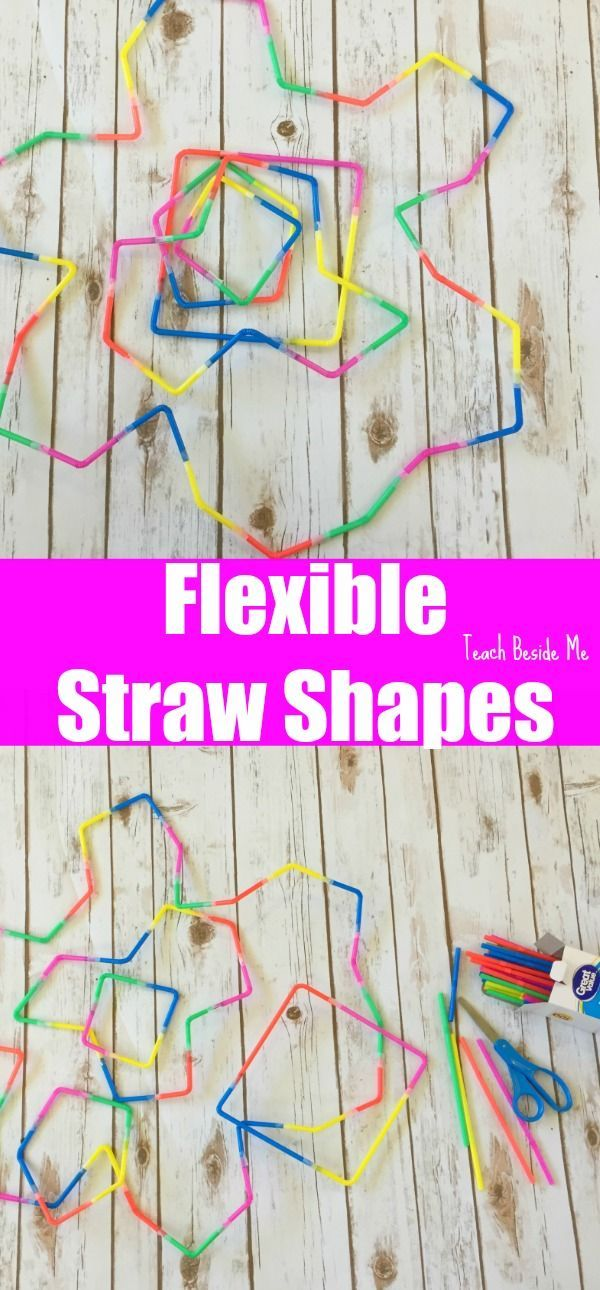 Flexible Straw Shape Building- SUPER Cool Geometry | STEM | Engineering | Math Play idea for kids  via @karyntripp