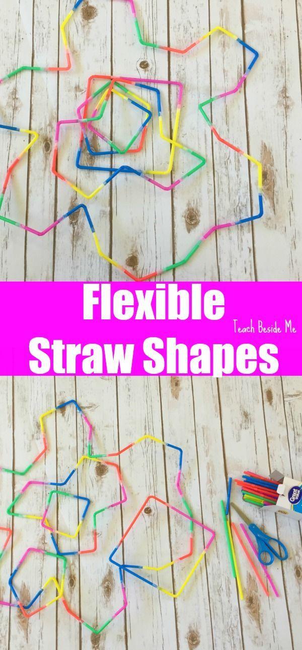 Flexible Straw Shape Building- SUPER Cool Geometry   STEM   Engineering   Math Play idea for kids  via @karyntripp