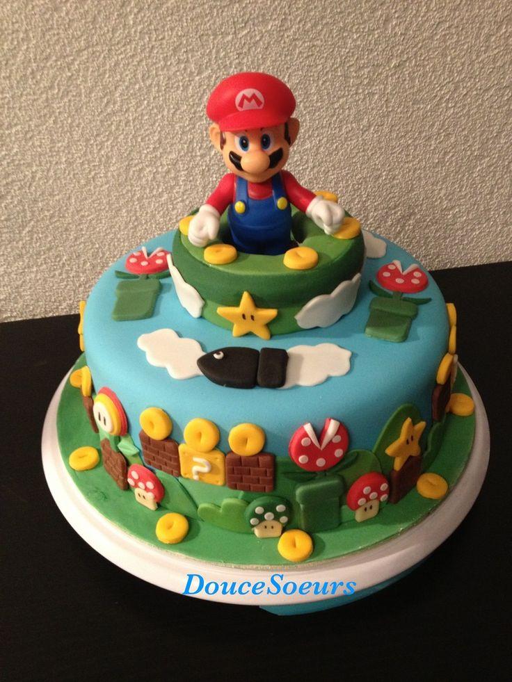 Gâteau Super Mario par DouceSoeurs