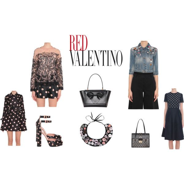 Red Valentino Spring Summer collection by lindelepalais on Polyvore featuring polyvore, fashion, style and RED Valentino