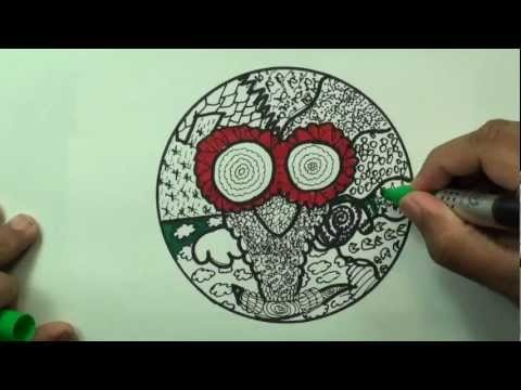 This video features an owl zentangle! Enjoy :D!    What is Zentangle?  Zentangle is an easy to learn method of creating beautiful images from repetitive patterns. It is a fascinating new art form that is fun and relaxing. It increases focus and creativity.