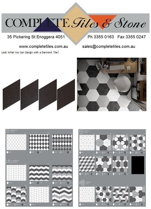 Loo at all the different ways you can lay a Rhombus/Diamond tile!