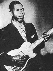 """Elmore James (January 27, 1918 – May 24, 1963) was an American blues guitarist, singer, songwriter and band leader.[1] He was known as """"the King of the Slide Guitar"""" and had a unique guitar style, noted for his use of loud amplification and his stirring voice."""