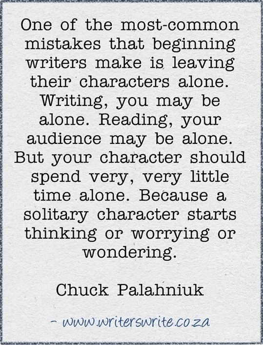 chuck palahniuk writing advice on diapers
