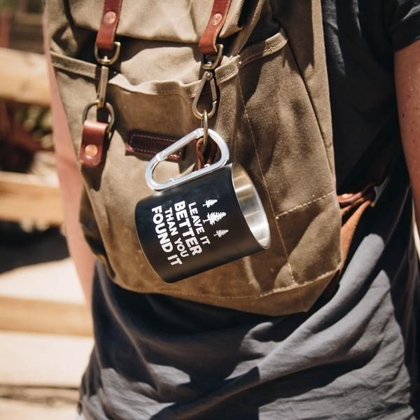 Leave it Better Carabiner Mug | My wish list | Mugs, Leaves