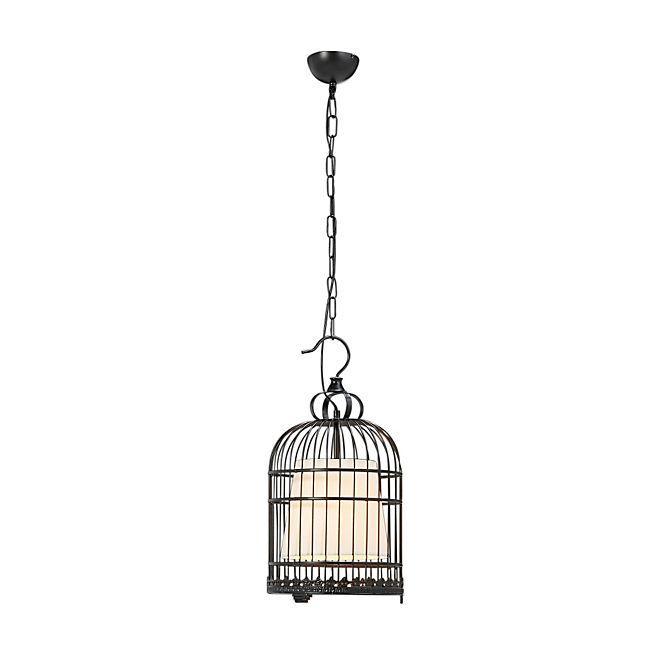 ALINEA -  agura Suspension en acier noir forme cage oiseaux L103cm