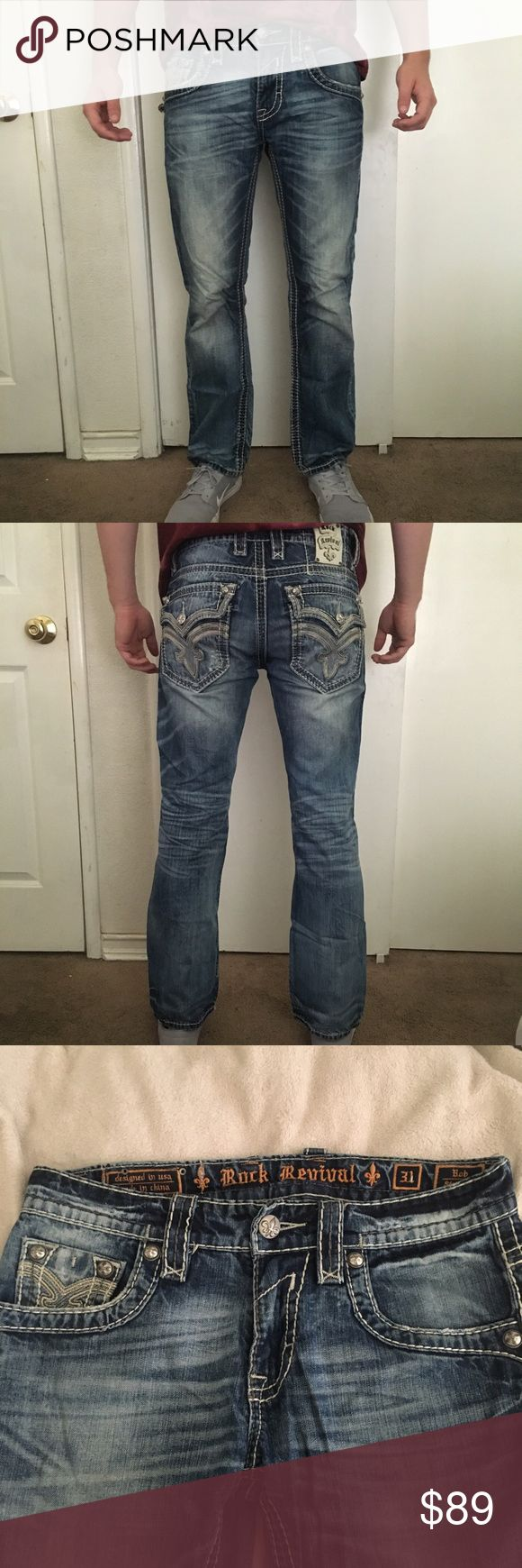 Rock Revival Jeans Gently used Rock Revival jeans, great for casual and semi formal wear Rock Revival Jeans Straight