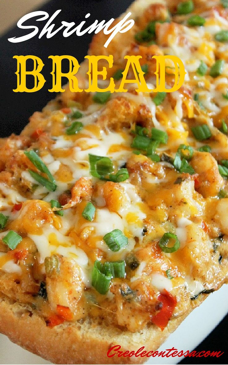 Stuffed Shrimp Bread-Creole Contessa #food #recipe #creole #seafood #shrimp #stuffed_shrimp_bread