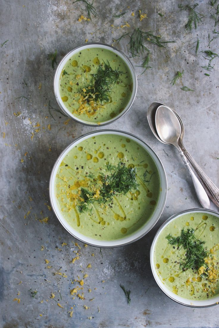 Creamy Broccoli Fennel Soup with Meyer Lemon Zest + a giveaway! @withfoodandlove