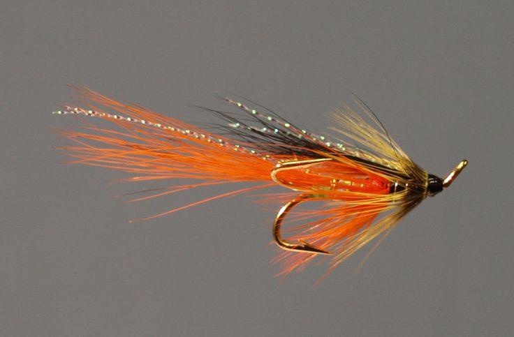 Salmon Fly Light Eany Tailfire Tied on Gold Esmond Drury Treble Hooks