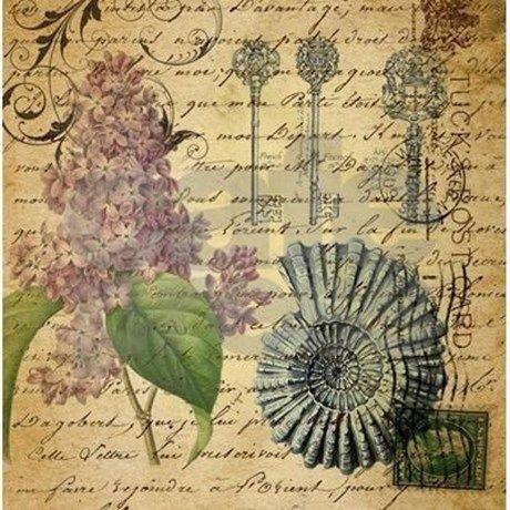 vintage skeleton key lilac seashell Shower Curtain by listing-store-62325139