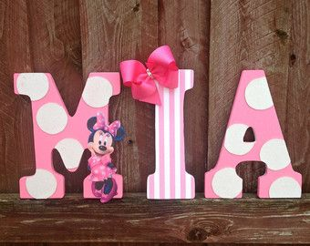 """minnie mouse bedroom ideas, already have the letters & can be changed through the years ! for my daughter """"mila"""""""