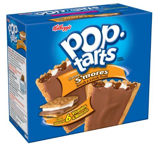 Pop-Tarts, Frosted S'mores, 12-Count Tarts (Pack of 12) Pop-Tarts http://www.amazon.com/dp/B001PNM44G/ref=cm_sw_r_pi_dp_Lmq6ub1HGE5FY