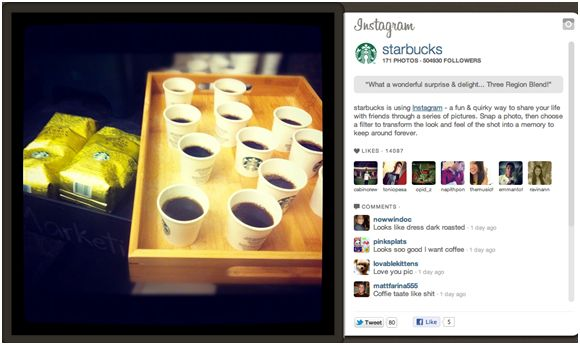 Starbucks, Best-Branded Companies on Instagram