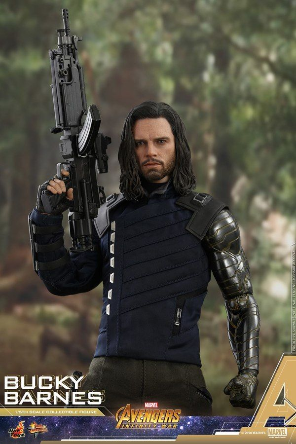 Avengers Infinity War 1 6 Scale Bucky Barnes Figure From Hot