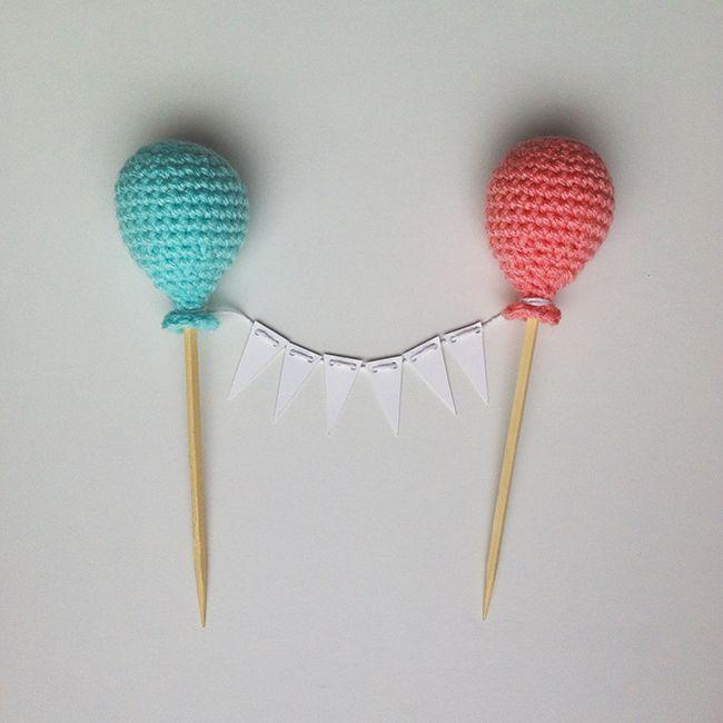Globos de Ganchillo // Amigurumi Crochet Cake toppers