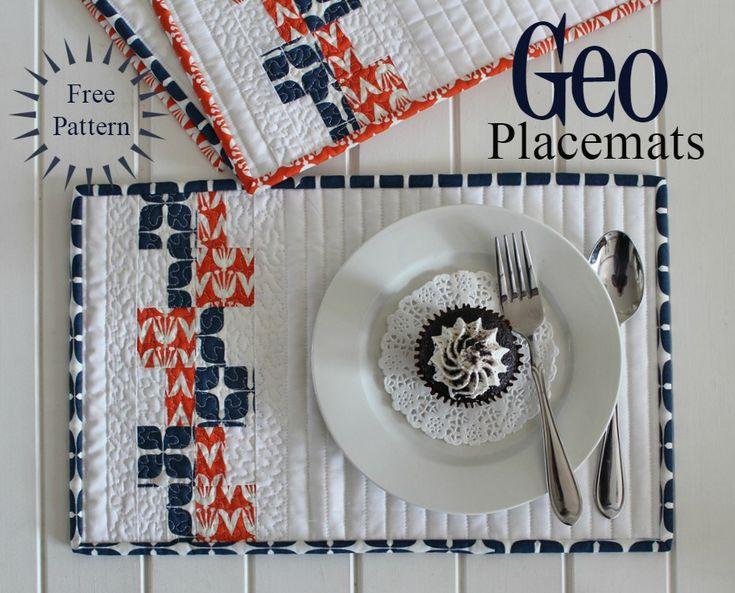 Threadbare Creations- {Free Pattern} Geo Placemats