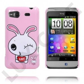 Glad Tegnefilm (Bunny Wink - Lys Pink) HTC Salsa Cover
