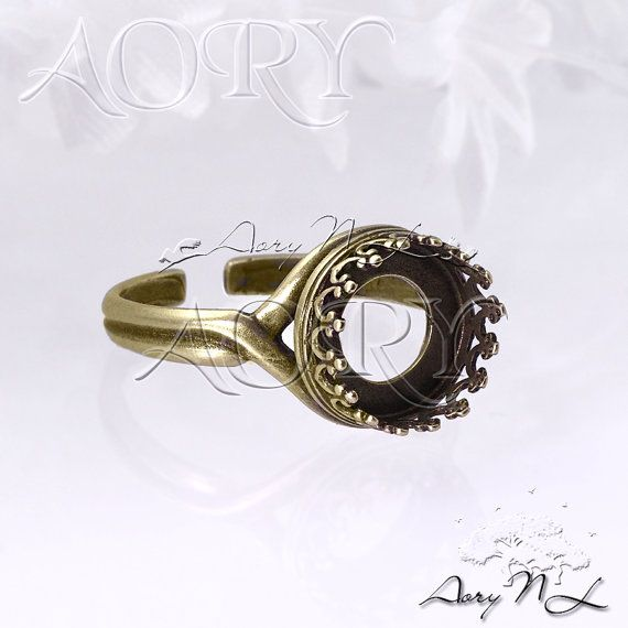 1pcs Oxidized Brass Wire Crown Bezel Ring Setting for by AoryNL