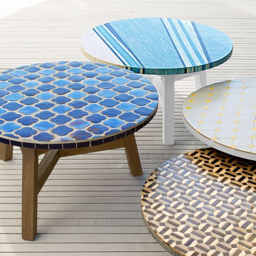 Add A Little Art To Your Space With The Mosaic Tiled Coffee Table Its Many Tiles Are Carefully