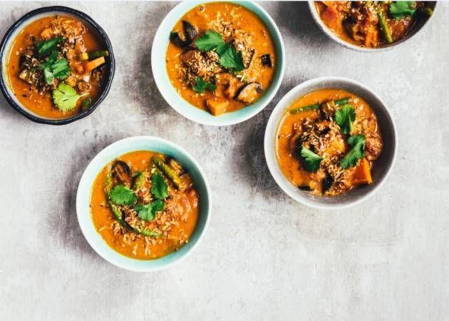 Der er smæk på både smag og farver i den her curry.