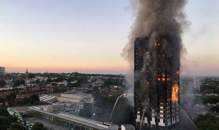 HUGE BLAZE ENGULFS 27-STOREY TOWER BLOCK IN WEST LONDON