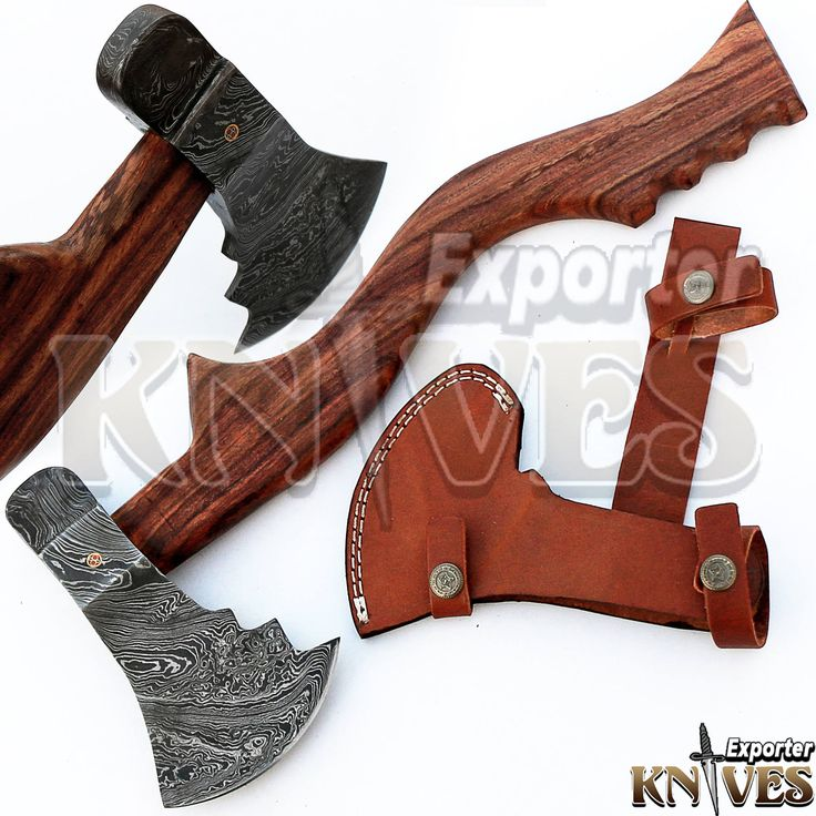 """Custom Hand Forged Damascus Steel Bearded Forest Felling Axe, 16"""" Wooden Handle by Knives Exporter 210 by TopQualityKnives on Etsy"""