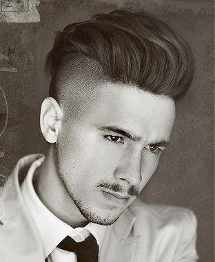 Kinda Want This A Medium Brown Straight Shaved Sides Mens Haircut Hairstyle By Raven Hair Men