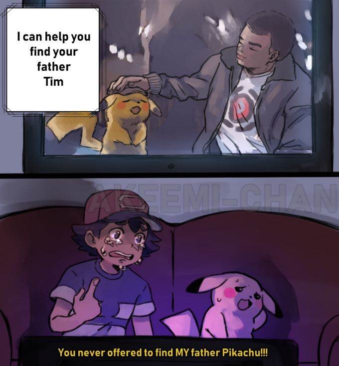 detective pikachu meme laying down
