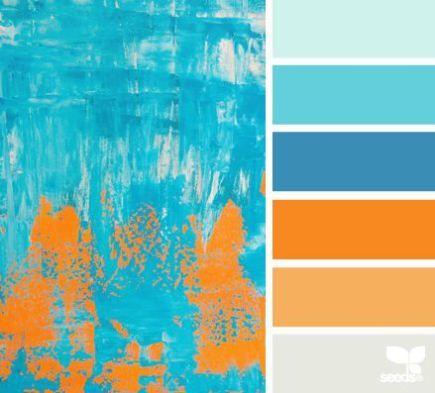 Blue orange bedroom color scheme possibly world of for Blue and orange bathroom