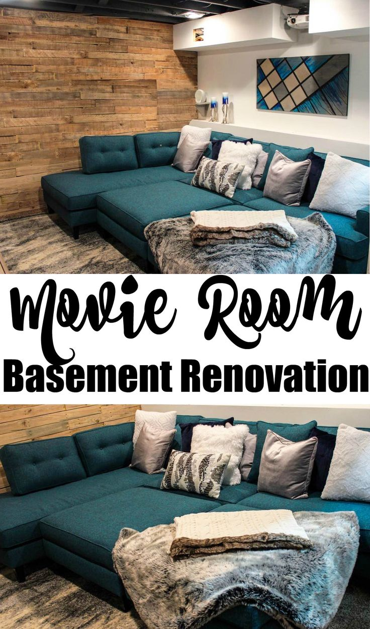 Basement Renovation Movie Room with Apt2B (Giveaway) | Happily Hughes