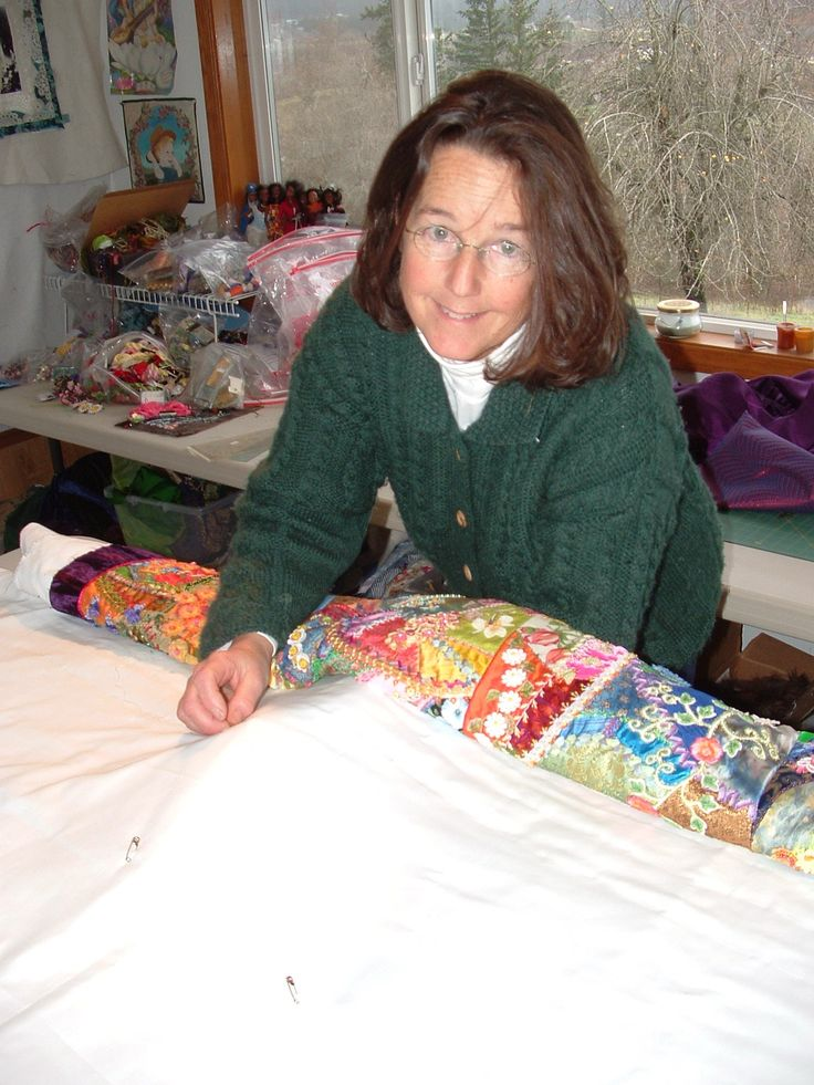 "CQMagOnline.com -  Article - Allie Aller - Securing Crazy Quilts - Finishing with a ""False Back"" and then a Dressy Back"