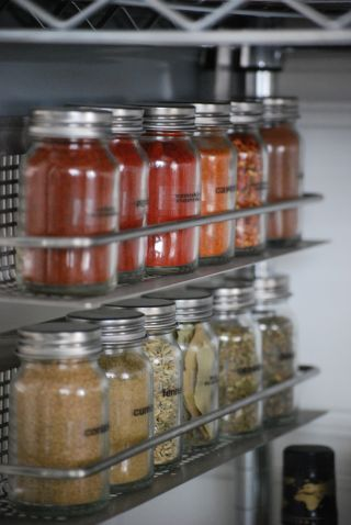 Favourite system so far for spices (as long as the jars are large enough for bulk spice packets - 1 c. ea.?)