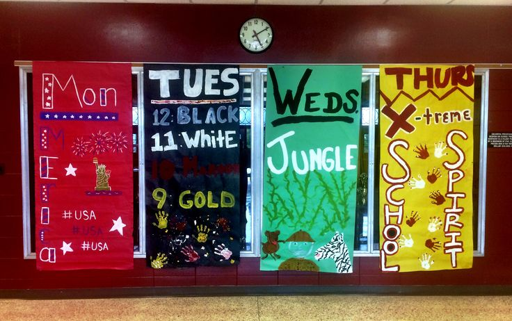 Homecoming Week, Theme Days, Spirit Days, School Spirit