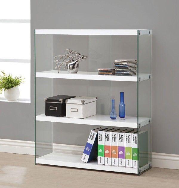 Coaster Furniture - 800536 Glossy White Bookcase - 800536
