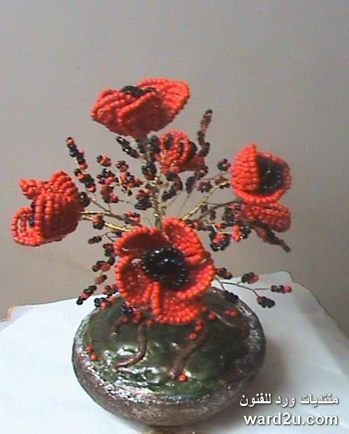 wire and beads flowers