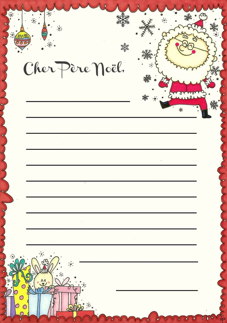 la lettre au pere Noel | Write to Santa in French!