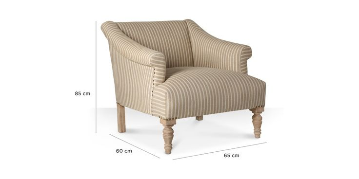 Swoon Editions Armchair, Modern country style in striped rye - £369