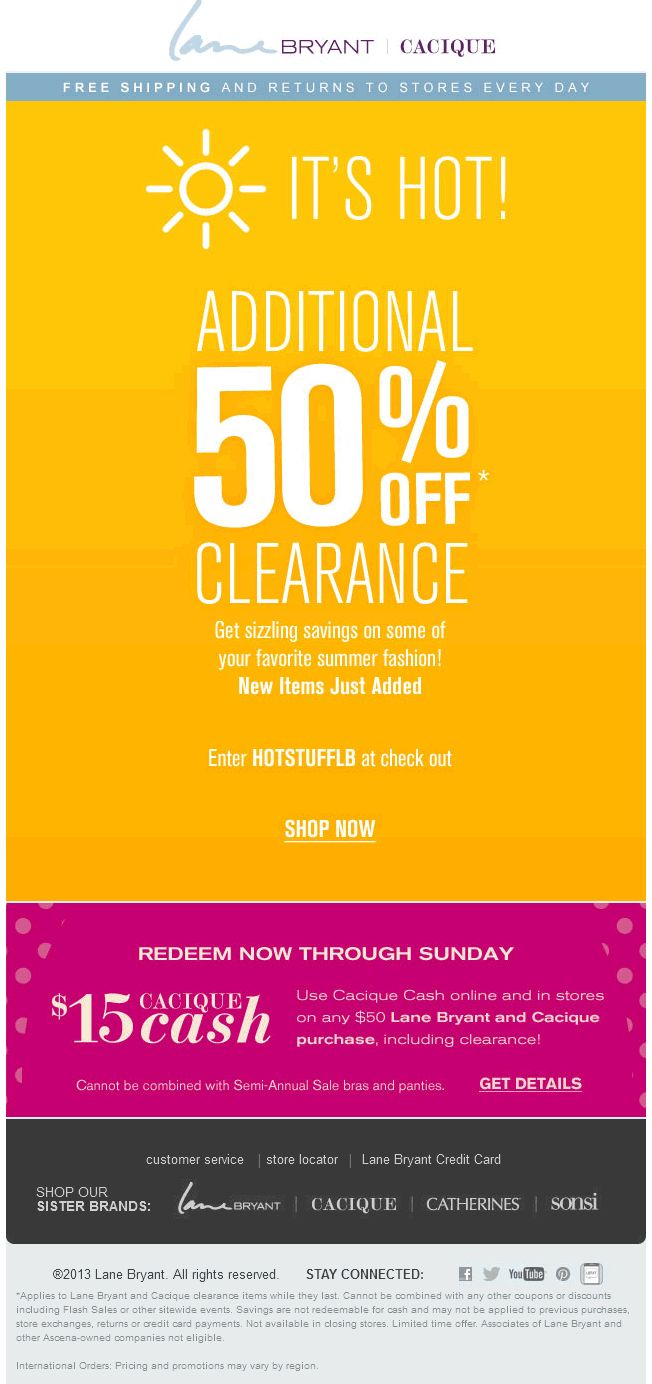Lane bryant coupon lane bryant promo code from the coupons app extra off clearance items at lane bryant cacique or online via promo code hotstufflb